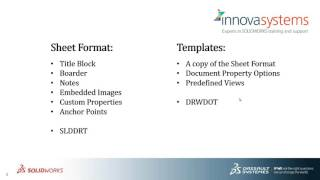 SOLIDWORKS sheet format and drawing template differences explained