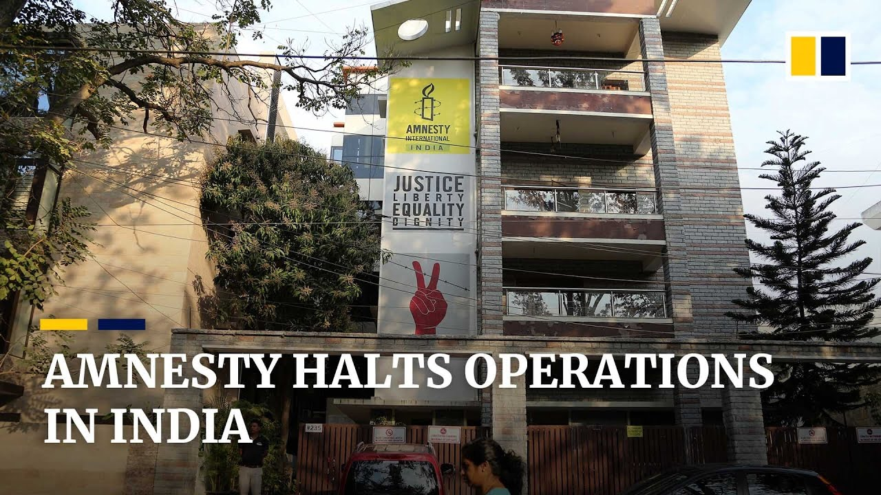 Amnesty halts operations in India citing government 'witch hunt' targeting human  rights groups - YouTube