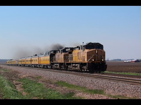 "UP 6517 East - ""Engineering Special"" Malta, Illinois on 4-23-2016"