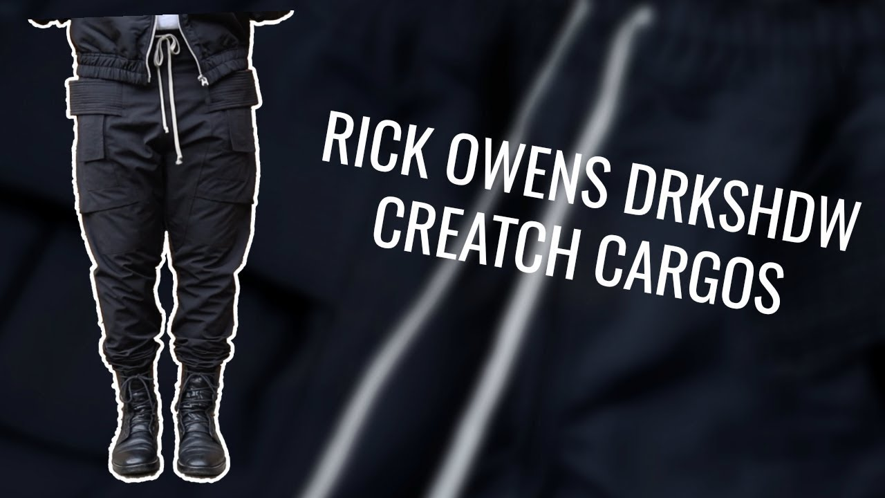 66ca281a2798 Rick Owens DRKSHDW Creatch Cargo Review