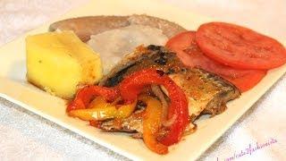 How To Make Real Jamaican Salt Mackerel Serve With Green Banana ,yam & Dumpling