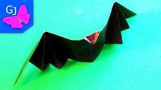 оригами Летучая Мышь Из Бумаги На Хэллоуин Своими Руками