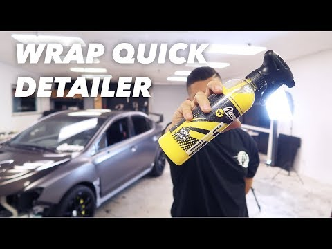 How To Clean Vinyl Wrap (Quick Detailer Spray)