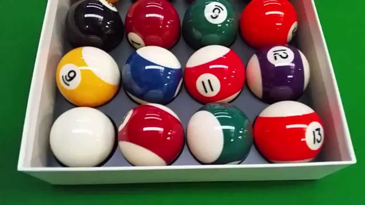 Aramith Standard 2 Quot Kelly Pool Balls W 1 7 8 Quot Cue Ball