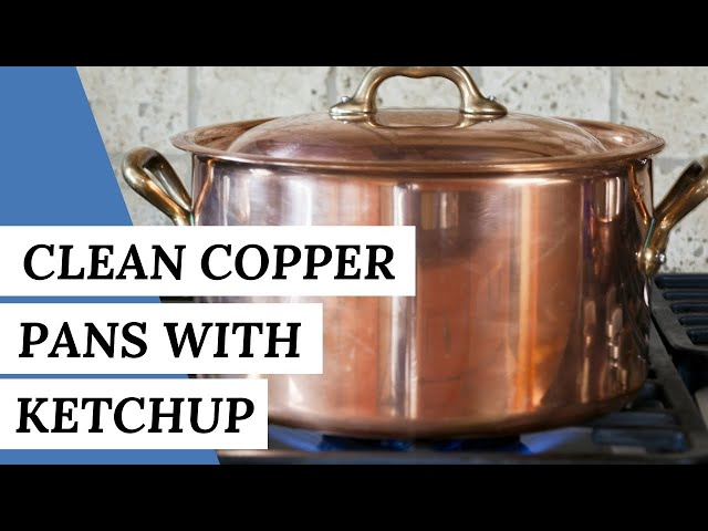 Use KETCHUP To Shine Your Copper Pans | Cleaning Hack  #short