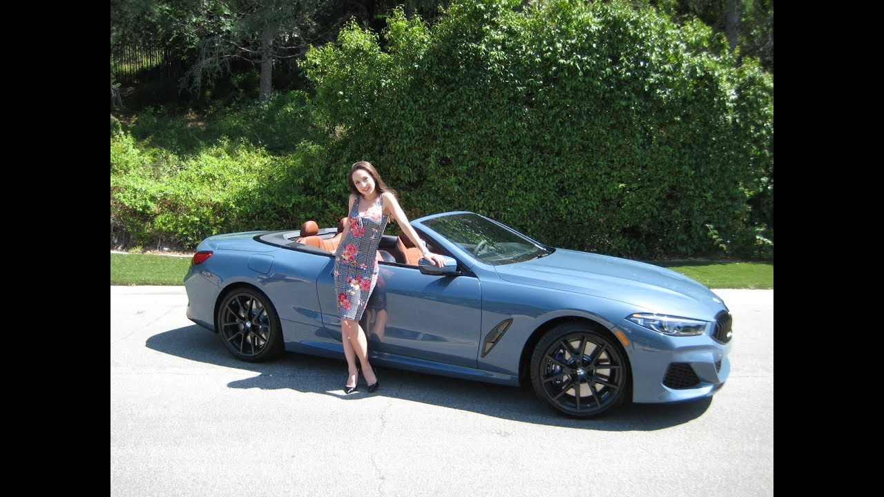 2019 Bmw M850xi Convertible In Barcelona Blue 20 Black M Wheels