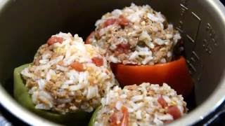 Stuffed Bell Pepper in Pressure Cooker