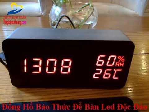 Đồng Hồ Báo Thức Để Bàn LED Độc Đáo, Cảm Biến Âm Thanh