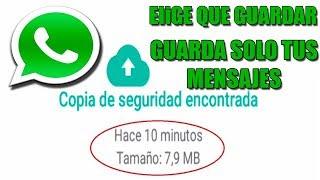 Reduce el Peso de la Copia de Seguridad de Whatsapp