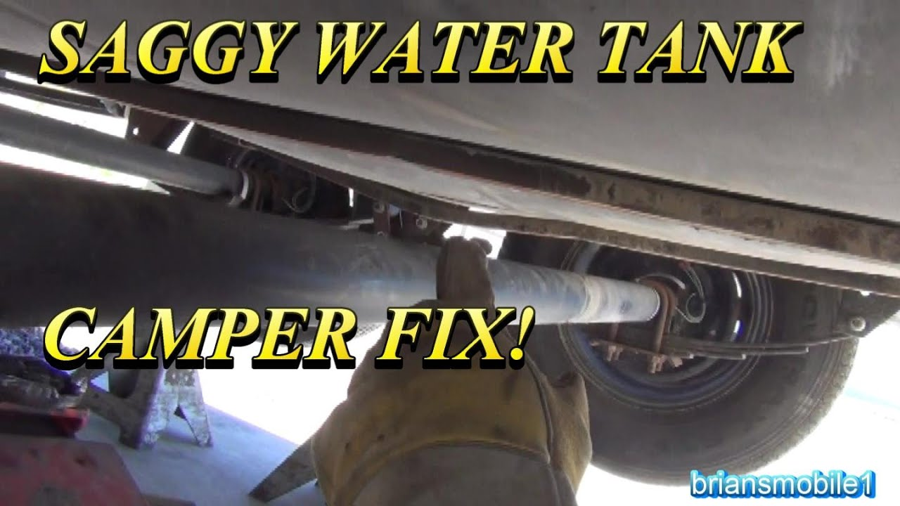 camper water tank fix