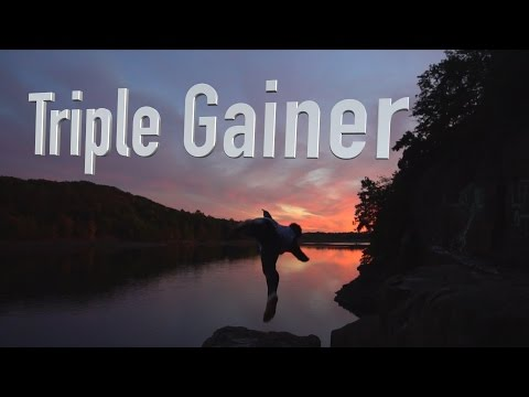 Sunset TRIPLE GAINER // Cliff Jumping