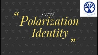 polarization identity inner product space proof