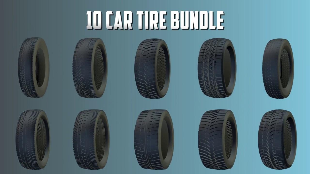 Car Tires Bundle - 3D models - Gumroad Purchase