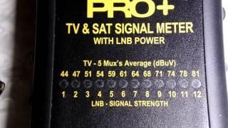 Fringe Electronics Pro+ TV & Satellite Signal Meter with LNB Power unpack