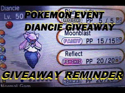 how to get diancie pokemon x