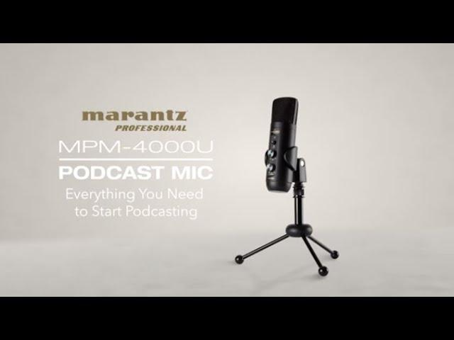 Marantz Professional | Introducing the MPM-4000U Podcast Mic