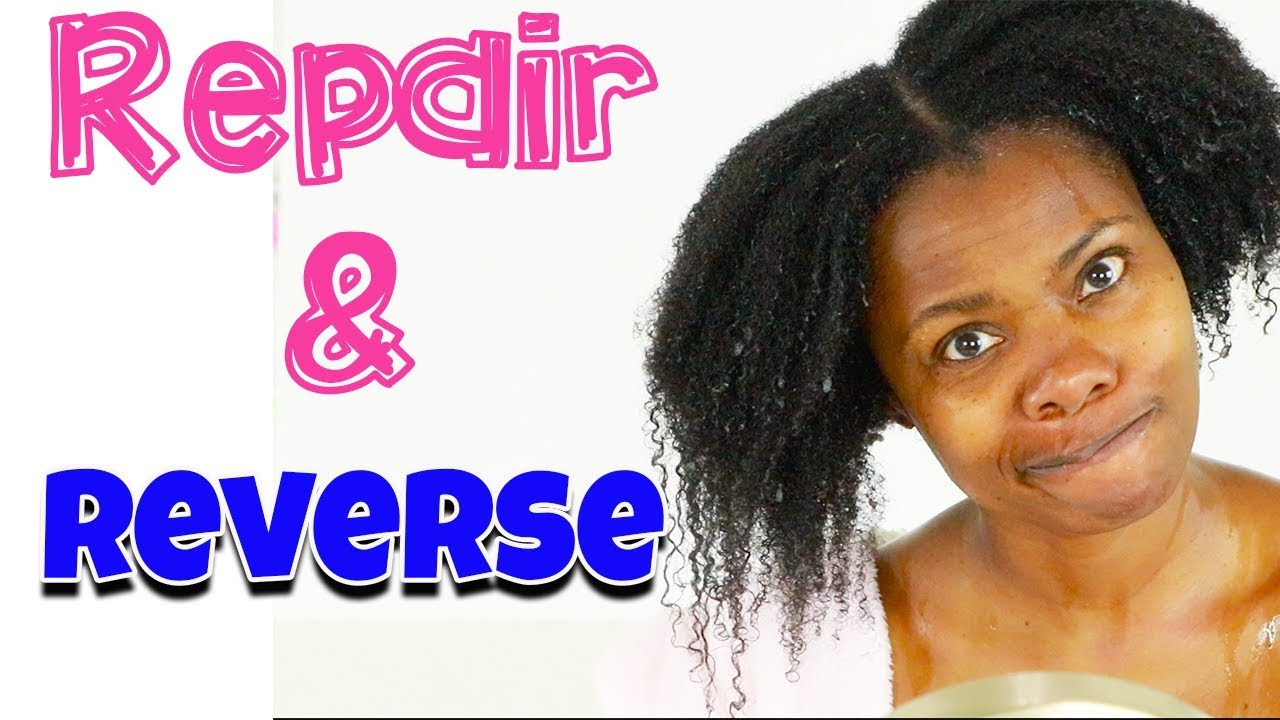 How To Repair Heat Damaged Natural Hair Without Cutting It !