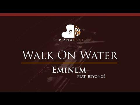 Eminem - Walk On Water (feat. Beyoncé) - HIGHER Key (Piano Karaoke / Sing Along)