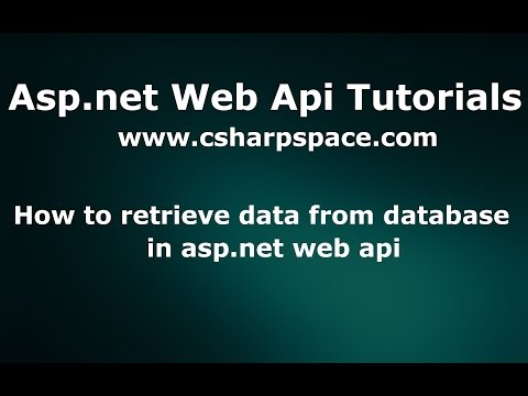 How to retrieve data from database in asp.net web api