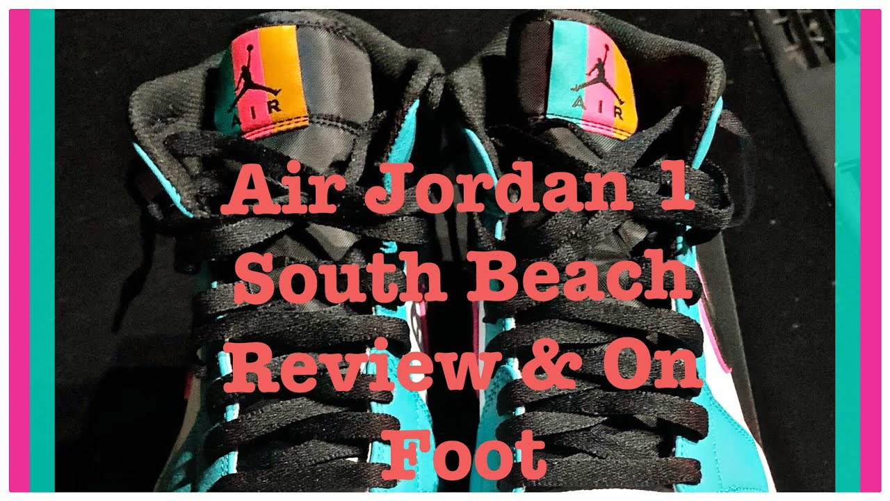 6a9f29e8a7850a Air Jordan 1 South Beach (Turbo Green) Review and On Foot - YouTube