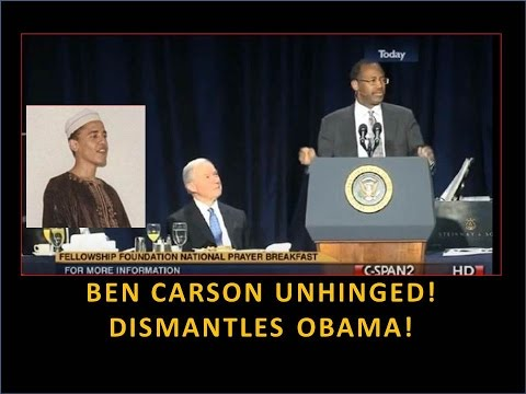 Ben Carson Unhinged! Dismantles Obama! Amazing! I Love This Man!