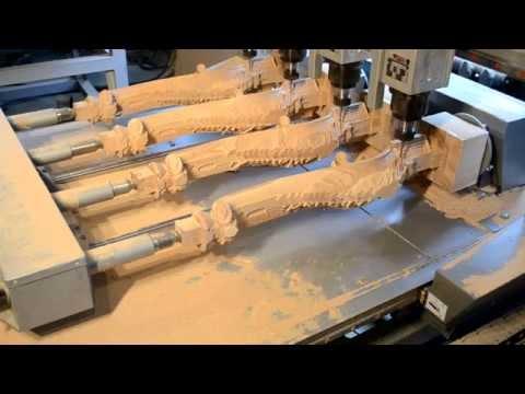 Фрезеровка четырех ножек одновременно