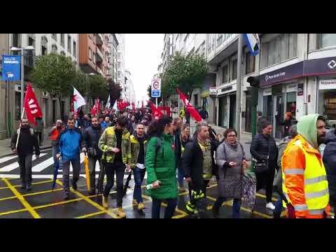 Traballadores de Seaga protestan en Santiago