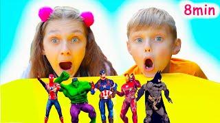 Superhéroes bailan con Dolguniki | Canciones Infantiles  y otras canciones