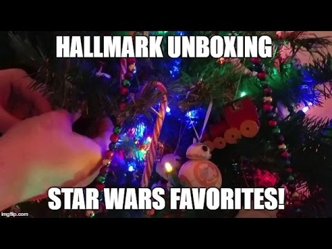 holiday special hallmark keepsake ornament unboxing star wars r2d2 bb 8 darth vader yoda - R2d2 Christmas Lights