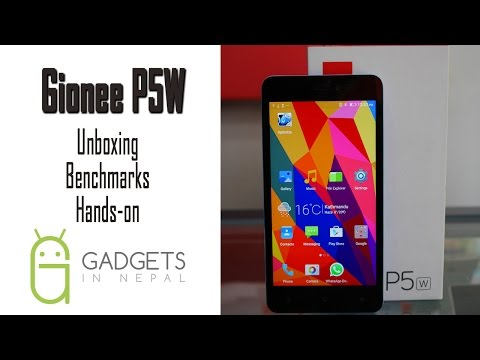 Gionee P5W Unboxing Benchmark & Hands on Video - YouTube