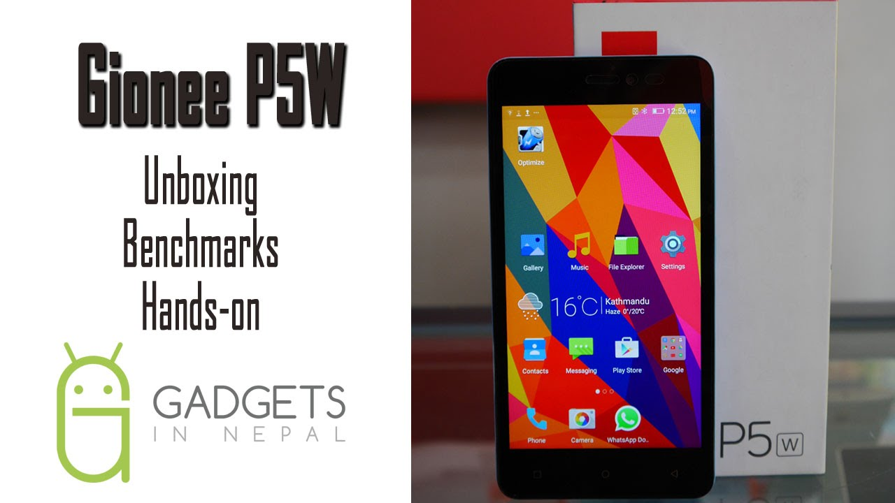 Gionee P5W Unboxing Benchmark & Hands on Video