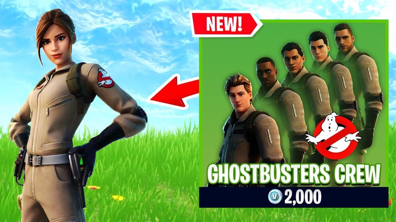 new ghostbusters skin in fortnite gameplay youtube new ghostbusters skin in fortnite gameplay