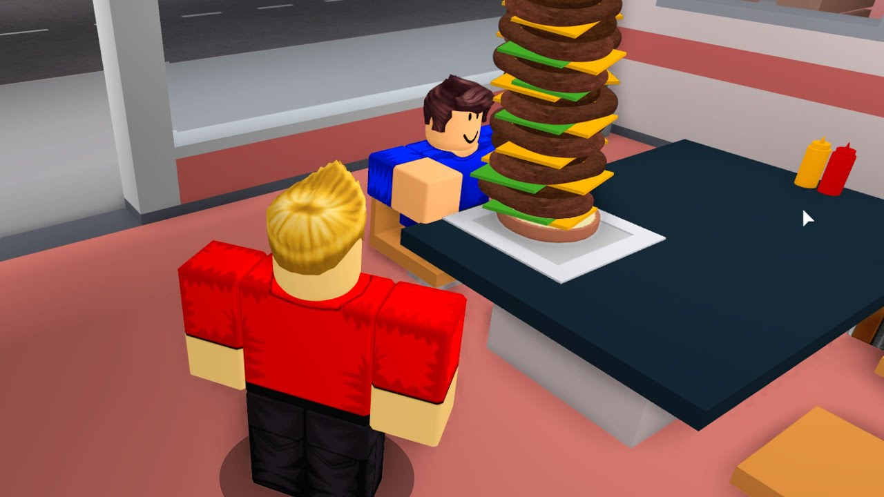 ROBLOX COOKING But I Make BIGGEST BURGER..