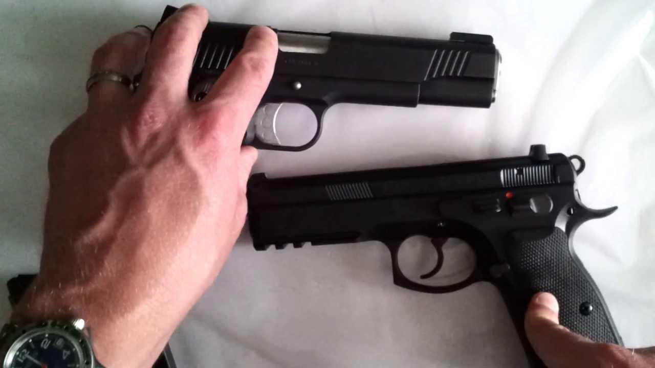 CZ SP-01 vs  1911 KIMBER
