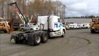 Sold! Freightliner FLD Sleeper Cab Semi Truck Tractor Trailer bidadoo.com