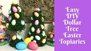 Dollar Tree Easter Crafts: Easter Topiary