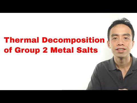 Thermal Decomposition Of Group 2 Metal Salts