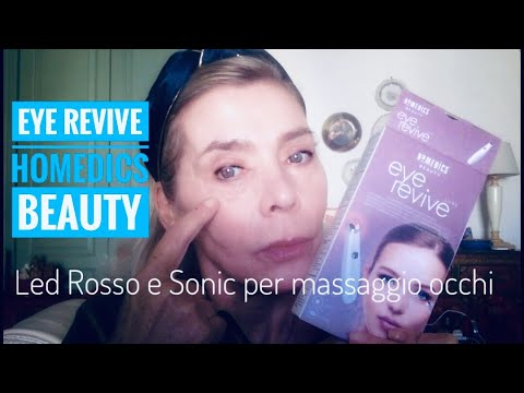 EYE REVIVE Homedics Beauty Red Led Sonic - Massaggio perioculare Uso e Review