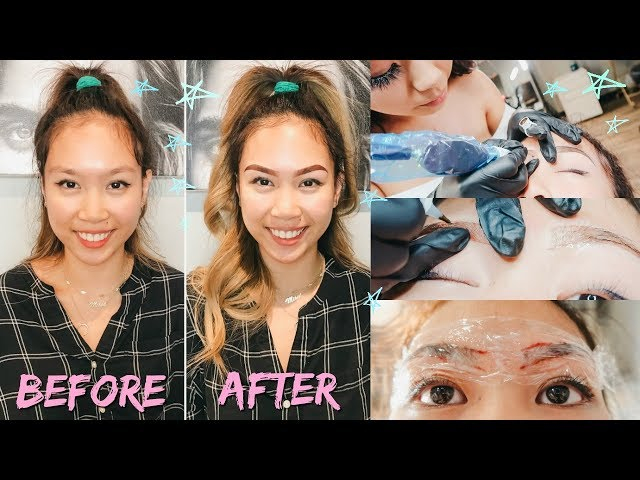 GETTING MY EYEBROWS TATTOO?! | OMBRE POWDER EYEBROWS BETTER THAN MICROBLADING?!