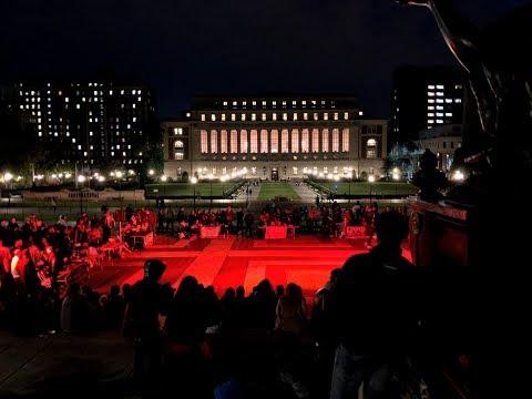 4K 360° New York City - Columbia University at Night