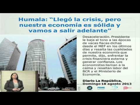 Impacto de Crisis Financieras Internacionales sobre la Economía de las Empresas en Perú