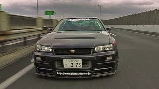 700HP Nissan Skyline Going 190 MPH On Japan Highway