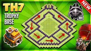 BRAND NEW 'POWERFUL' TOWN HALL 7 (TH7) TROPHY BASE DESIGN/DEFENSIVE- Clash Of Clans