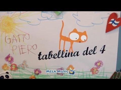 CANTIAMO LA TABELLINA DEL 4 - La canzoncina della gattina Diamante