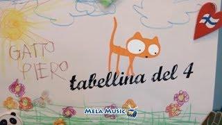 CANTIAMO LA TABELLINA DEL 4 .La canzoncina della gattina diamante - Canzoni per bambini