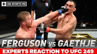 ufc-249-expert-reactions-gaethje-tko-ferguson-claim-interim-lightweight-title-cbs-sports-hq