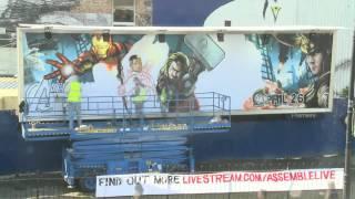 Marvel Мстители -- граффити постер