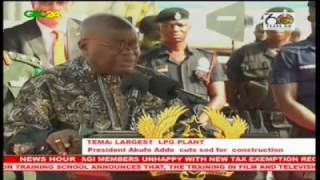 President Akufo-Addo cuts sod for world's largest LPG-fired plant