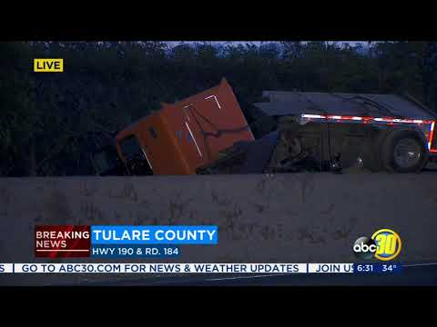 Fatal accident closes part of HWY 190 in Tulare County