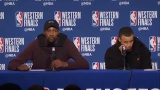 Kevin Durant & Stephen Curry Postgame Interview | Rockets vs Warriors Game 6 | May 26, 2018